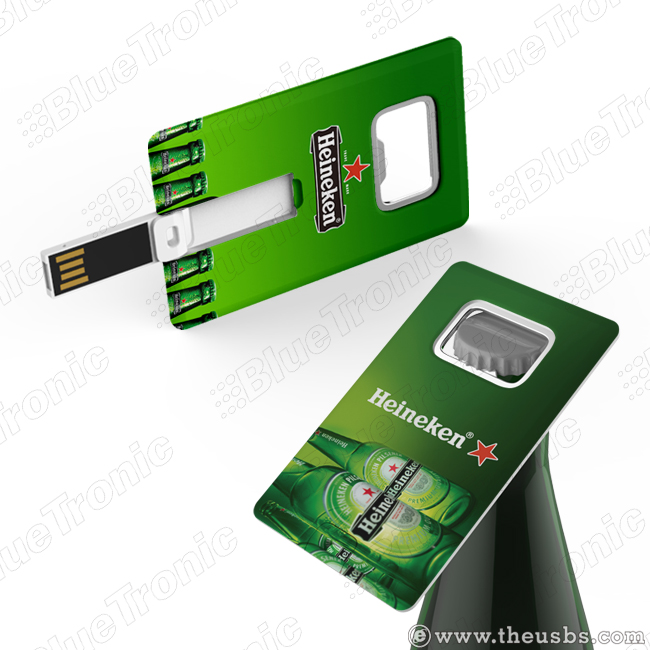 Card USB with Bottle Opener